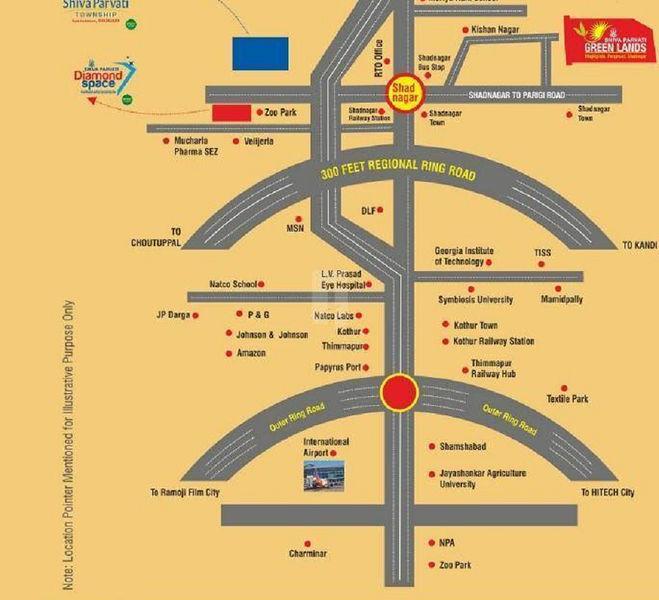 Shiva Parvati Green Lands - Location Maps